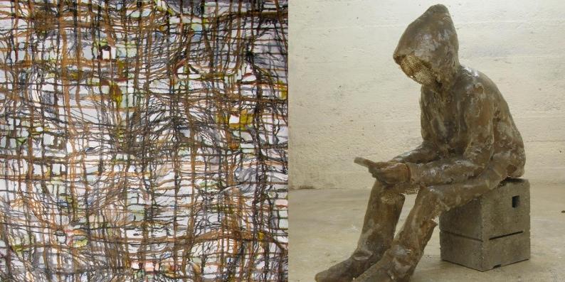 Interaktion von Figur und Abstraktion, Ausstellung im KDV Dachau, 2012