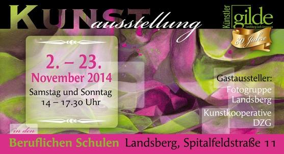 Nov 2014 Teilnahme an Jahresausstellungen der Künstlergilde Landsberg und dem Kunstverein Roseninsel eV