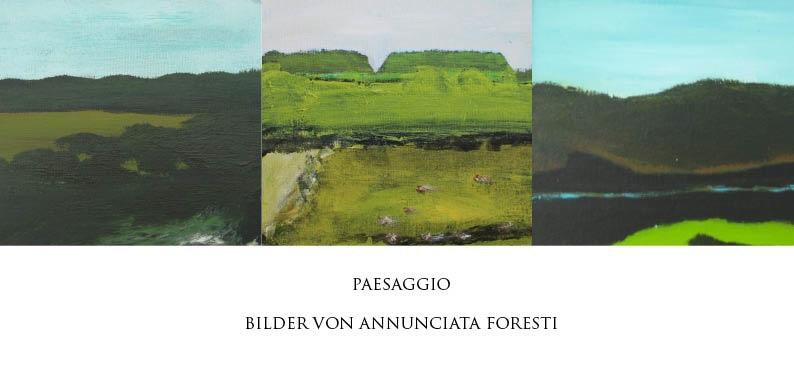 """""""Paesaggio"""" – Einzelausstellung im Üblacker-Häusl in München, Jan. 2015"""