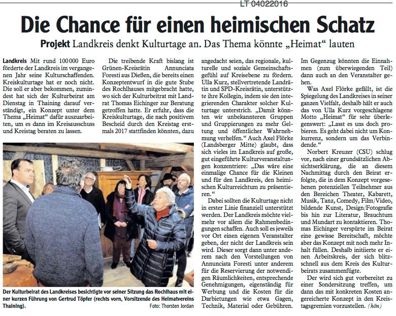 Kreiskulturtage für den Landkreis Landsberg