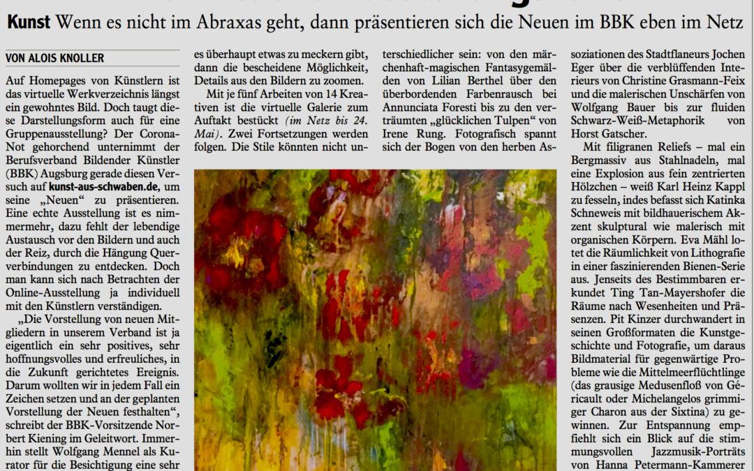 """Online Ausstellung beim BBK Augsburg """"Die Neuen"""""""